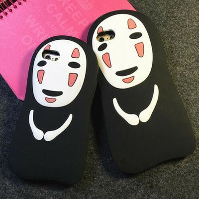 Spirited Away No Face Silicone Bumper Case For iPhone #JU2186-Juku Store