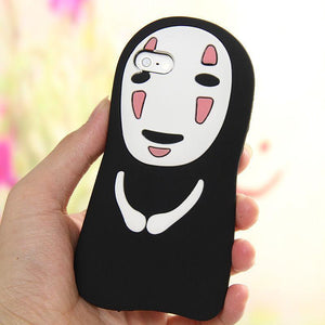 Spirited Away No Face Silicone Bumper Case For iPhone #JU2186-For iPhone SE 5 5S-Juku Store