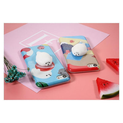 Squishy Soft Silicone Seal iPhone Case [2 Styles] #JU1849-Juku Store