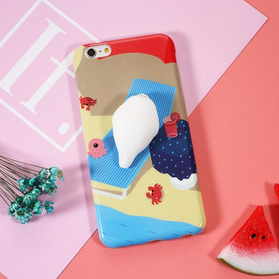 Squishy Soft Silicone Seal iPhone Case [2 Styles] #JU1849-Chill Seal-iPhone 7-Juku Store