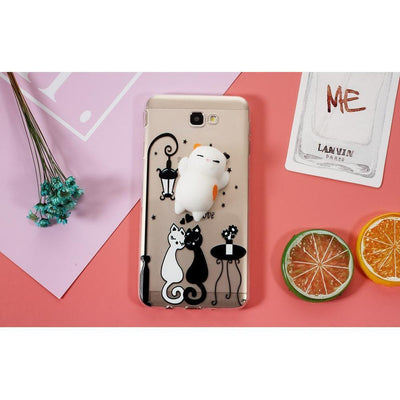 Squishy Spotted Cat Samsung Galaxy Phone Case #JU1852-Juku Store