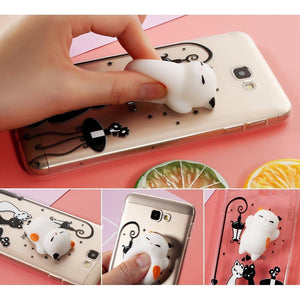 Squishy Spotted Cat Samsung Galaxy Phone Case #JU1852-Grand Prime-Juku Store