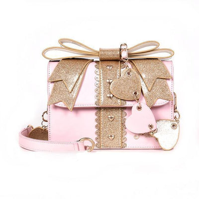 Sweet Lolita Glitter Bow Fashion Shoulder Bag [3 Colors] #JU2168-Pink-Juku Store