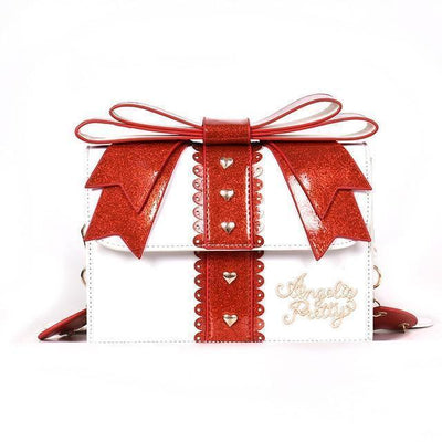 Sweet Lolita Glitter Bow Fashion Shoulder Bag [3 Colors] #JU2168-White-Juku Store