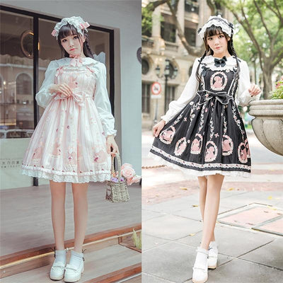 Sweet Lolita Princess Victorian High Waist Dress Kawaii Outfit #JU2710-Juku Store