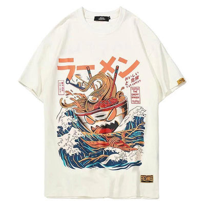 The Great Ramen T-Shirt Japanese Harajuku Top #JU2460-Juku Store