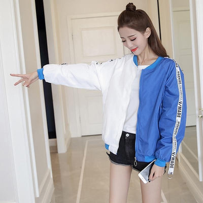 Thin Girl Windbreaker Bomber Jacket #JU2393-Juku Store