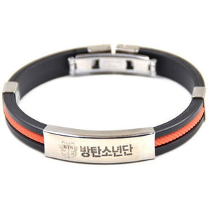 Titanium Steel BTS Bracelet [3 Colors] #JU1820-Orange-Juku Store