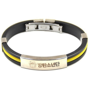 Titanium Steel BTS Bracelet [3 Colors] #JU1820-Yellow-Juku Store