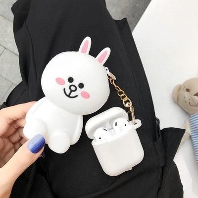 Totoro Line Friends AirPods Charging Case Silicone Cover and Pouch #JU2424-Cony-Juku Store