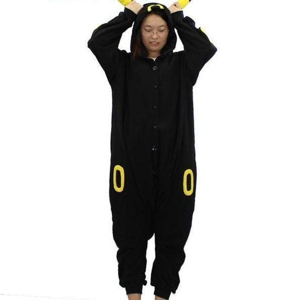 Umbreon Onesie Cosplay Costume [Pokemon] [2 Colors] #JU2099-Yellow Ring-S-Juku Store