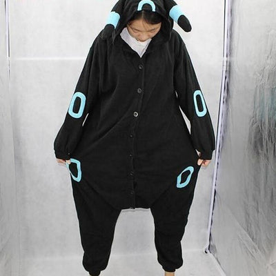 Umbreon Onesie Cosplay Costume [Pokemon] [2 Colors] #JU2099-Blue Ring-M-Juku Store