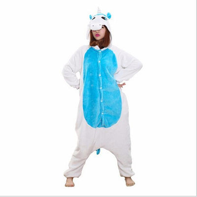 Unicorn Onesie Cosplay [11 Colors] #JU1833-Blue Unicorn-S-Juku Store