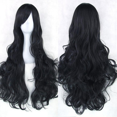 Wavy Cosplay Wig 80cm (Heat Resistant) [20 Colors] #JU1822-Black-Juku Store