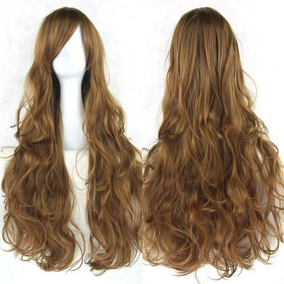 Wavy Cosplay Wig 80cm (Heat Resistant) [20 Colors] #JU1822-Brown-Juku Store