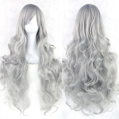 Wavy Cosplay Wig 80cm (Heat Resistant) [20 Colors] #JU1822-Grey-Juku Store