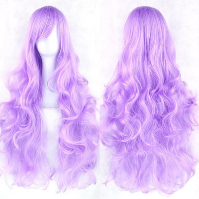 Wavy Cosplay Wig 80cm (Heat Resistant) [20 Colors] #JU1822-Purple-Juku Store