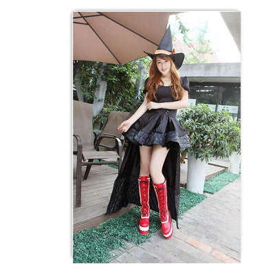 Winter Knee High Lolita Lace Platform Boots Kawaii Wedge #JU2551-Juku Store