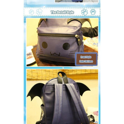 Yami Kawaii Ao no Kanata no Four Rhythm Mashiro Arisaka Lolita Winged Backpack #JU1901-Juku Store