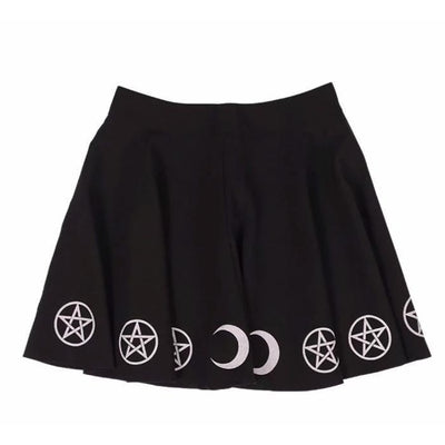 Yami Kawaii Black Magic Witch Moon Skirt #JU1941-M-Juku Store