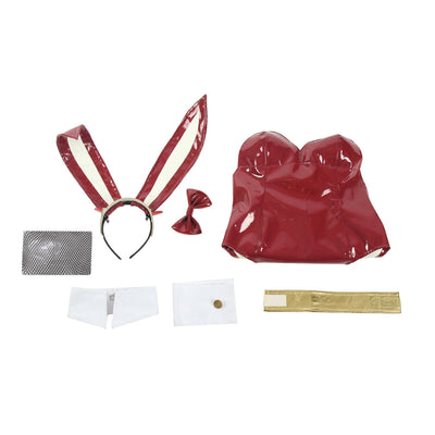 Zero Two Bunny Girl Red Leather Suit Darling in the Franxx Cosplay Costume #JU2556-XL-Juku Store