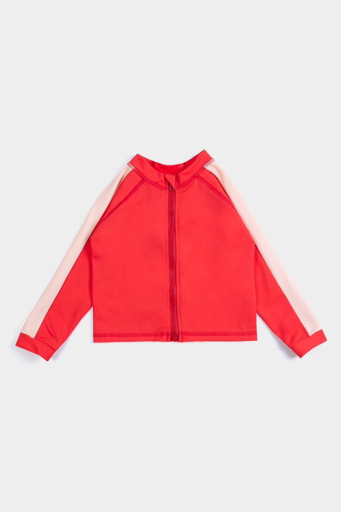 Eco Friendly RETRO RED RASHGUARD + BAG