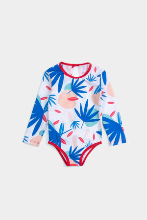 Eco Friendly TROPICAL FOOTPRINT SWIMSUIT + BAG