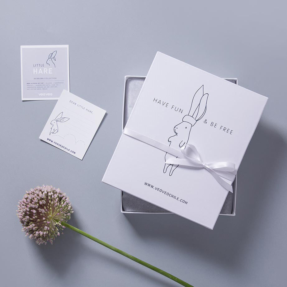 Little Hare Baby Box / Grey