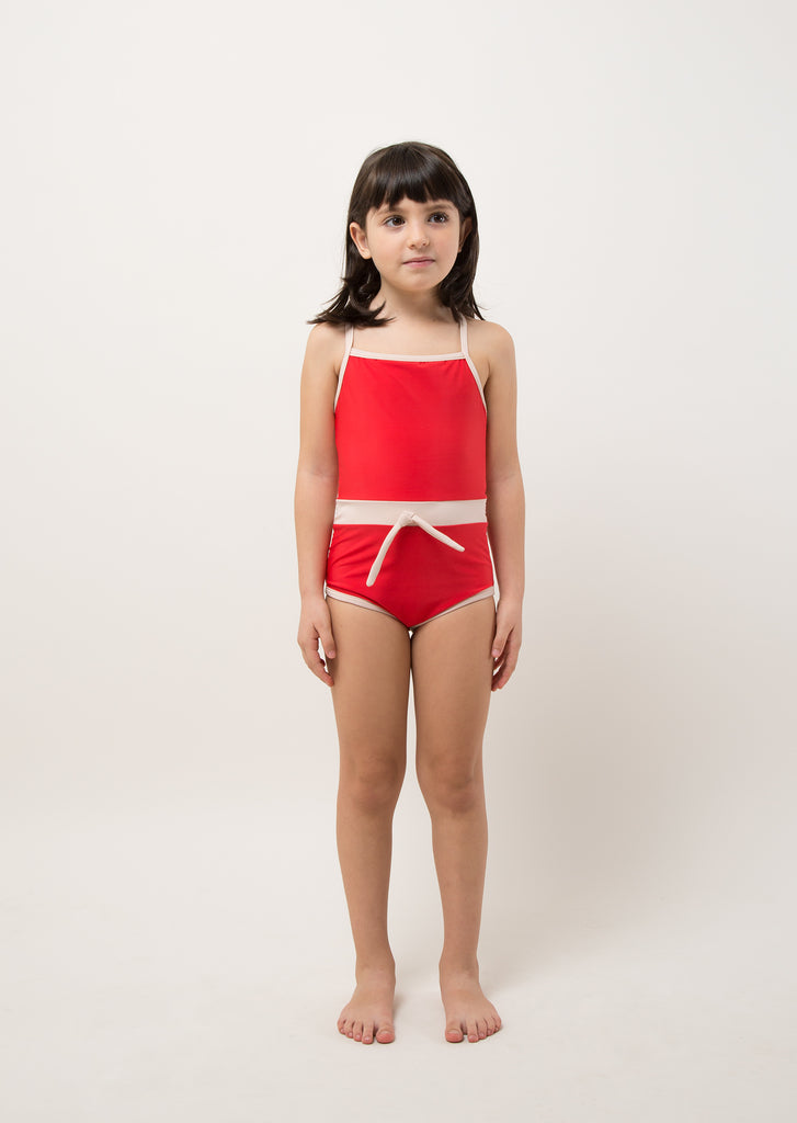 Eco Friendly RETRO RED ONE PIECE + BAG