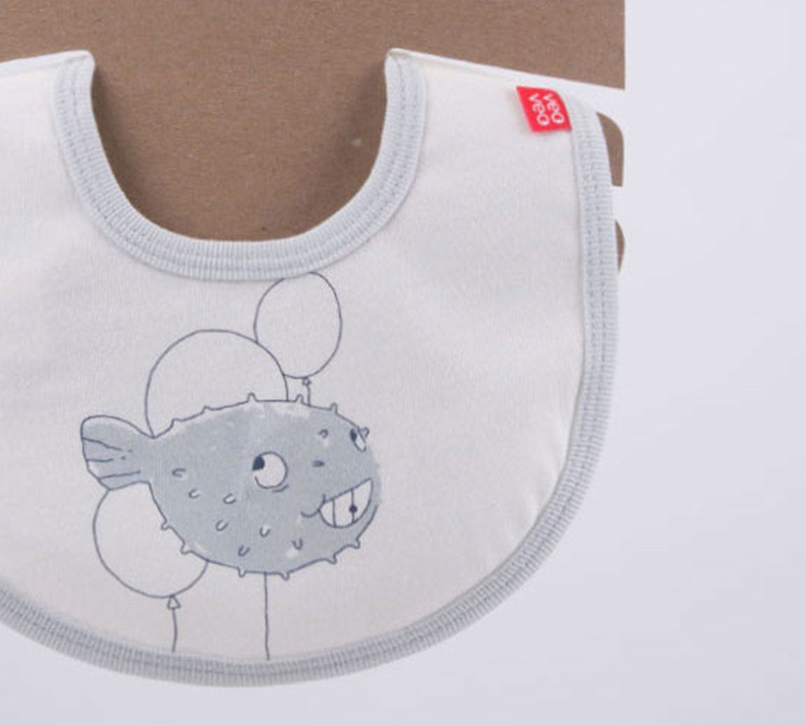 Blowfish Bib Blue + Kraft Hanger