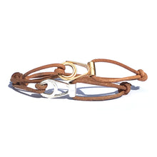 1.8 Bracelet Apala Doré - Cravate Club - Chesterfield Cuir Naturel