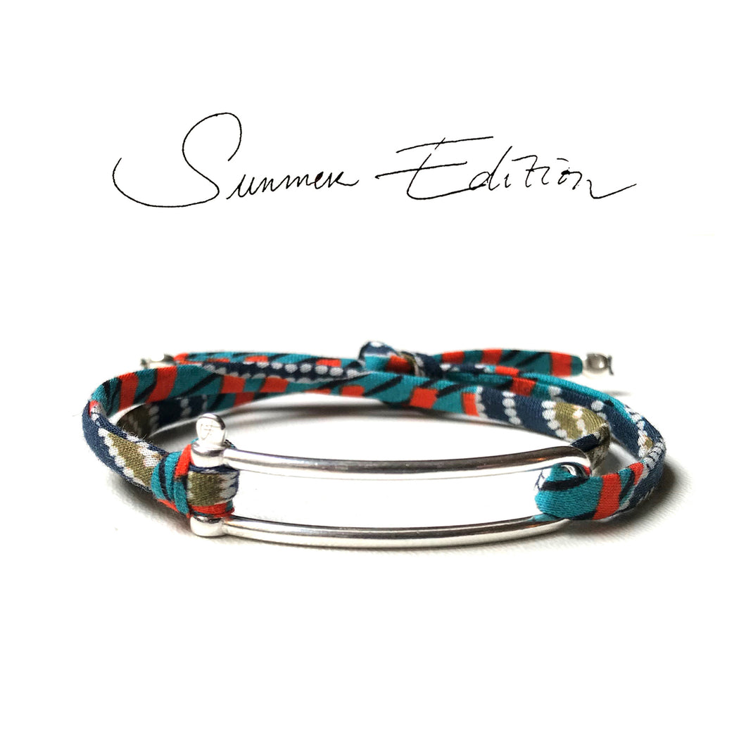Bracelet Manille Allongée Argent - SUMMER EDITION WAX