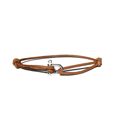 Bracelet Petite Manille - Cuir Chesterfield Naturel