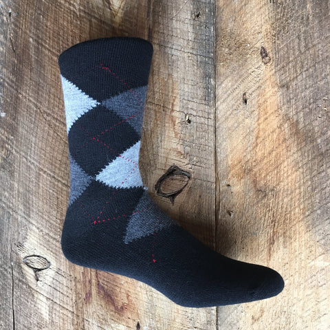Socks, Alpaca Argyle Dress Socks