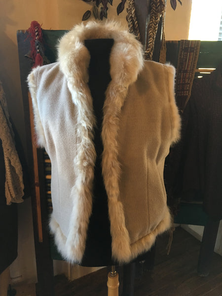 Women's Reversible Alpaca Fur Vests