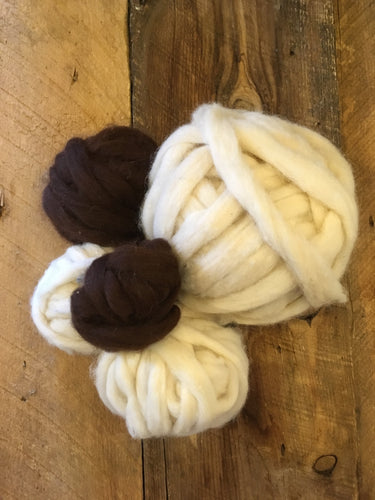 100% Natural Alpaca Roving - Per Ounce