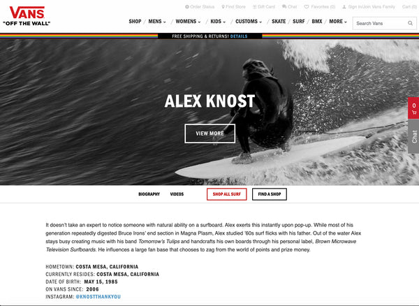 alex knost vans surfer