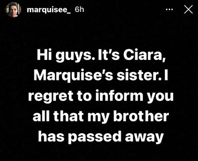 marquise echols passed away