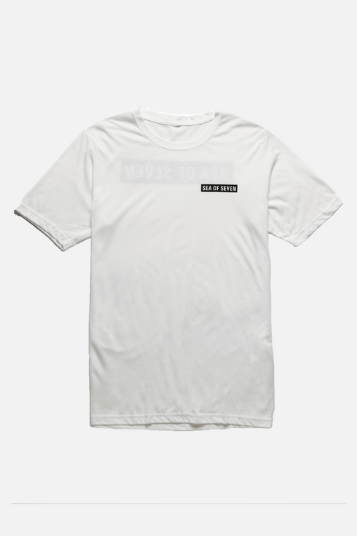 Block Party mens white t-shirt from Sea Of Seven.