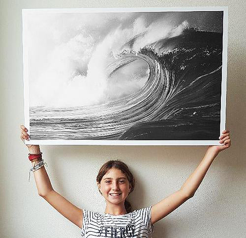 Magic & Mayhem surfing poster of Waimea Shorebreak on the North Shore of Oahu