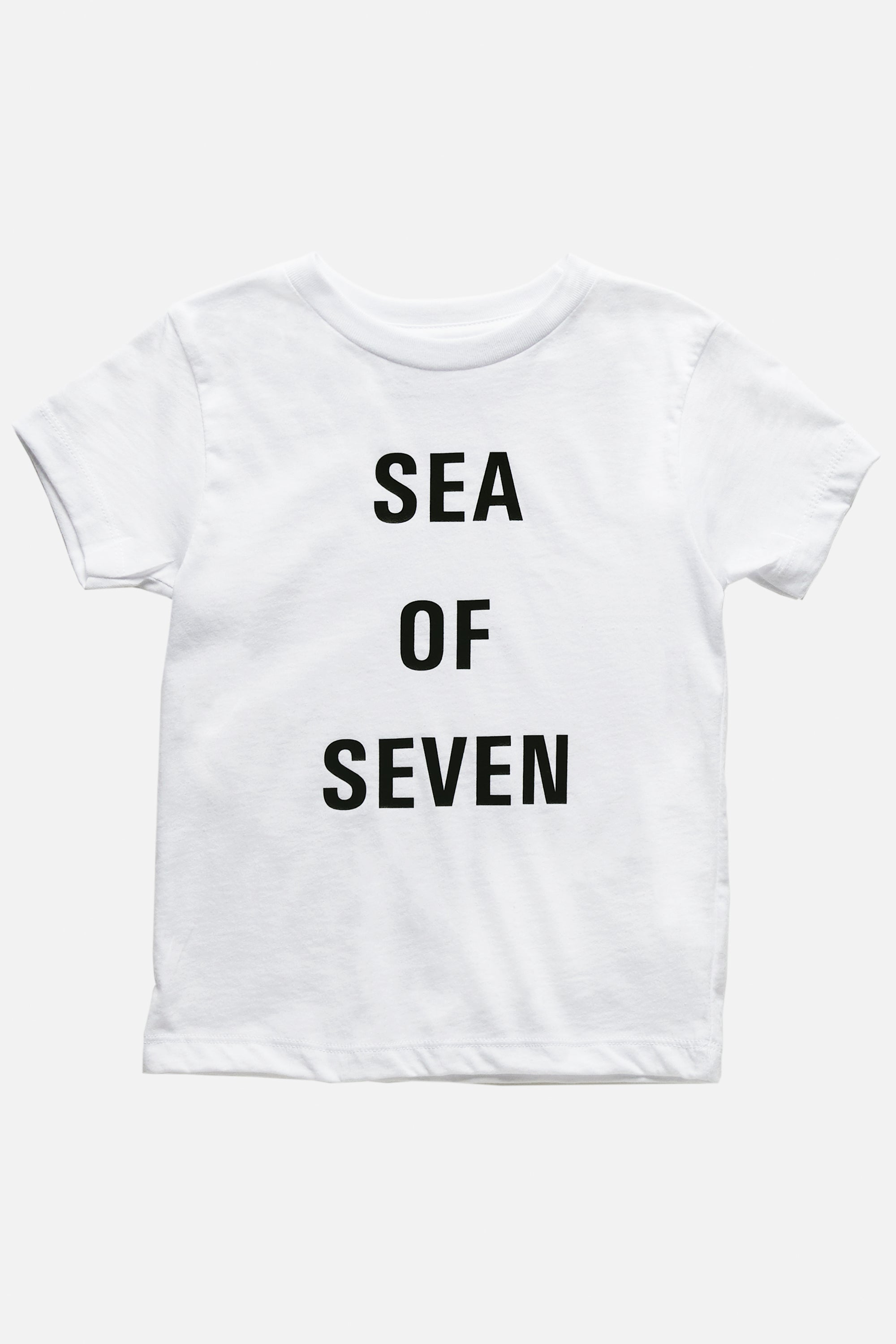 Next Hero toddler white t-shirt by Sea Of Seven from San Diego California.