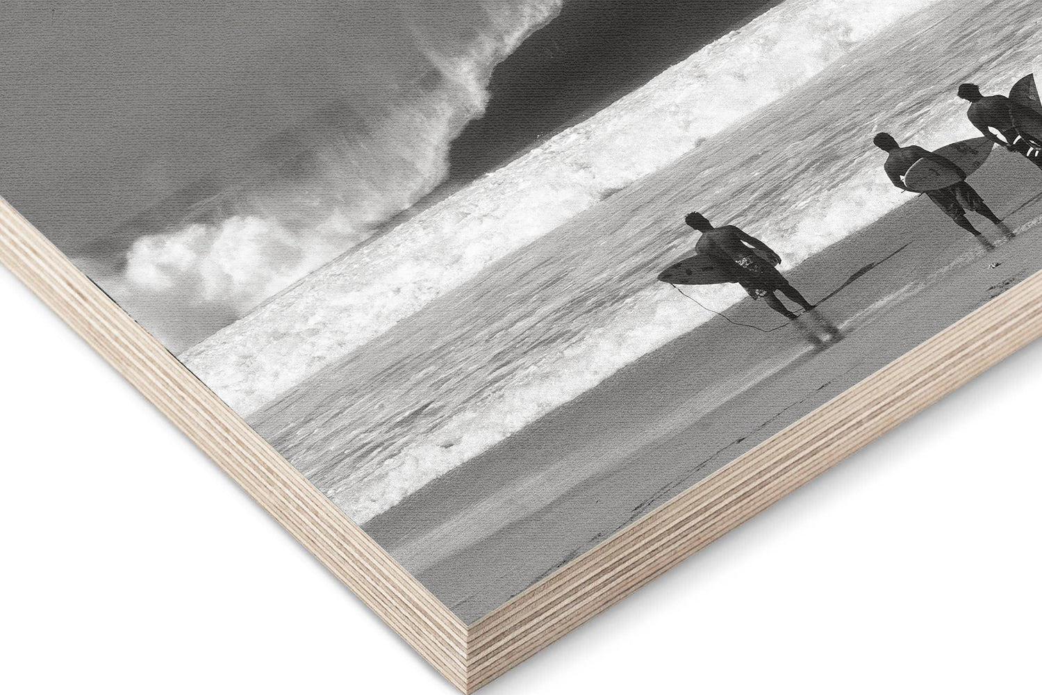 Surfing Wood prints by Sea Of Seven of the surf spot Pipeline by Jack English located on the North Shore  of Oahu in Hawaii.