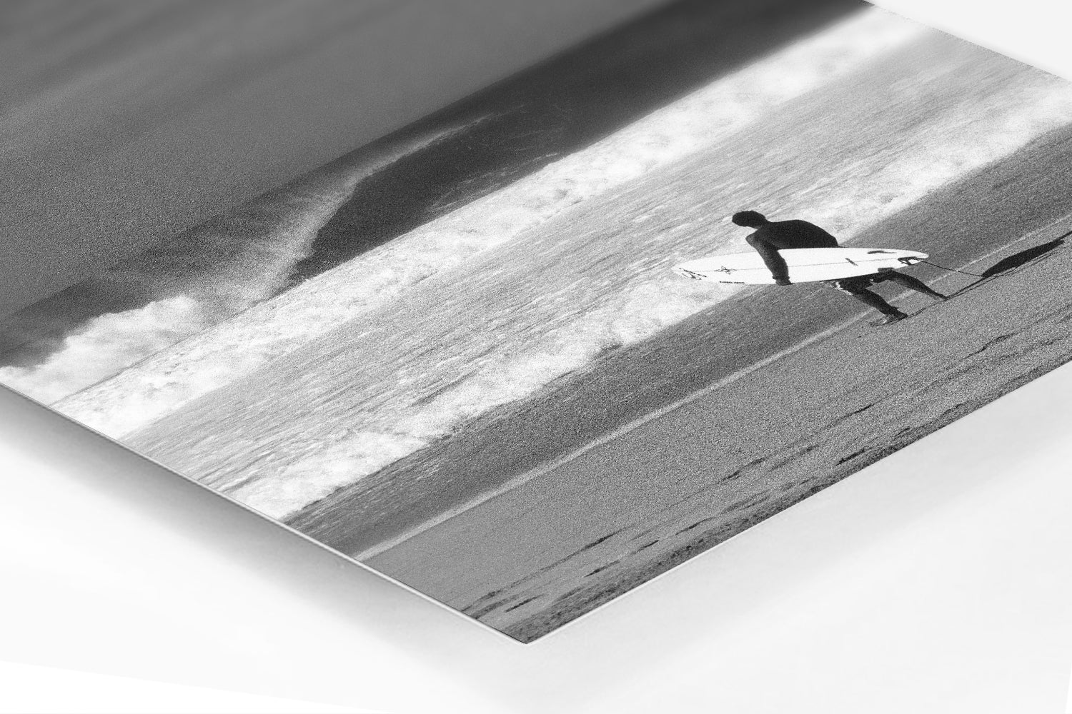 Under Pressure surfing metal prints available of a surfer holding a surfboard on the North Shore of Oahu in Hawaii at Pipeline.