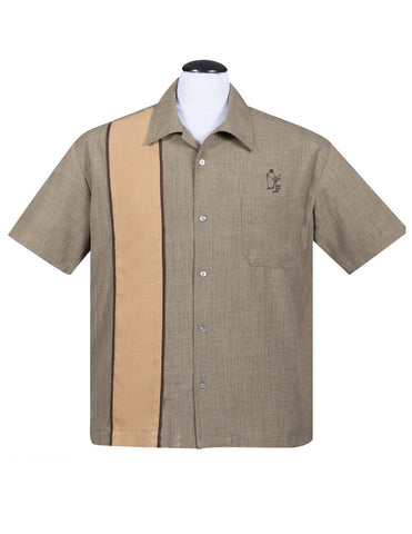 Palm Springs Cocktail Button Up Shirt in Olive