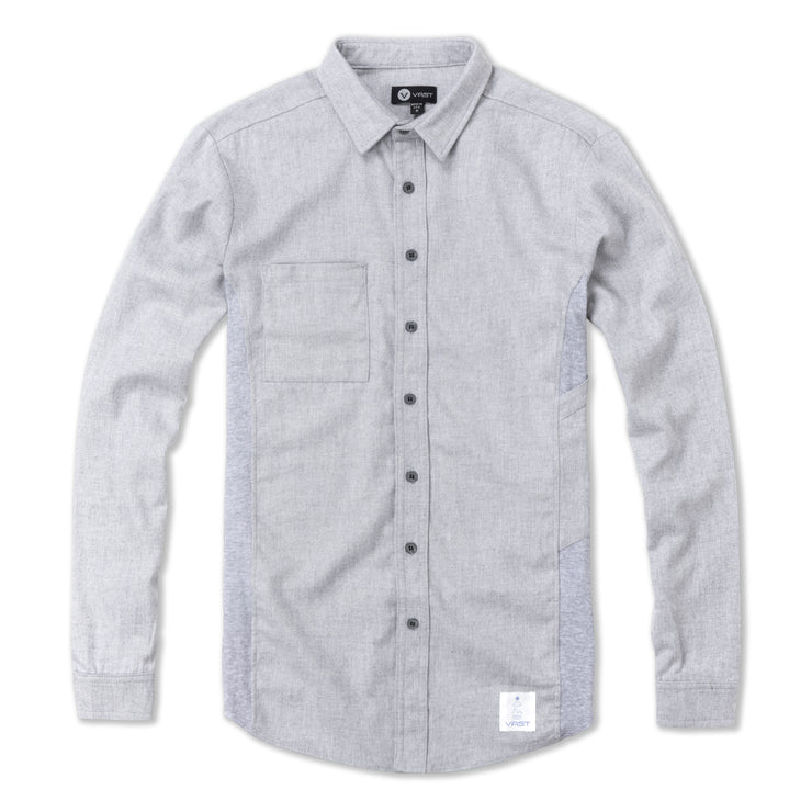 RIB PANEL BUTTON SHIRT