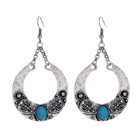 Brinco Carved Vintage Drop Earrings