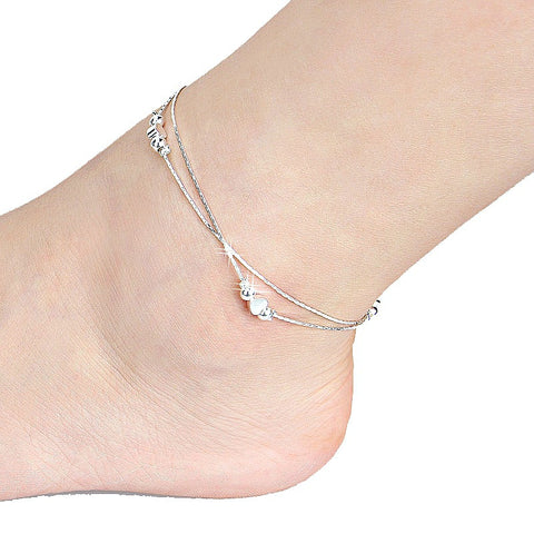 Double Love Chain Ankle Bracelet