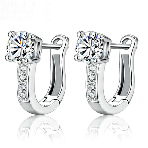 Joyme U- Shaped Sterling Silver Earrings