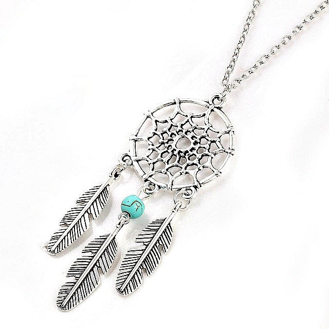 Retro Dream Catcher Pendant Necklace