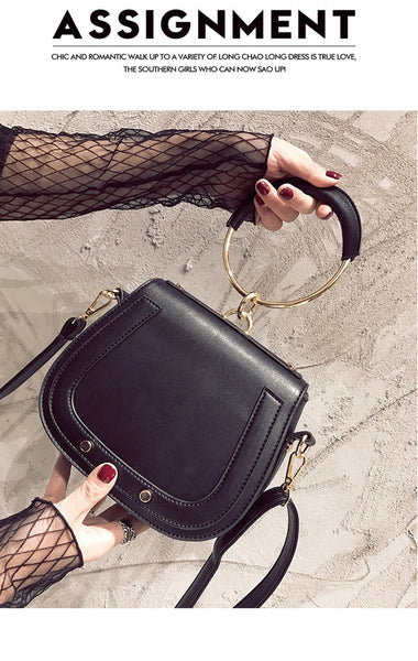 Ring Top Handle Shoulder Bag